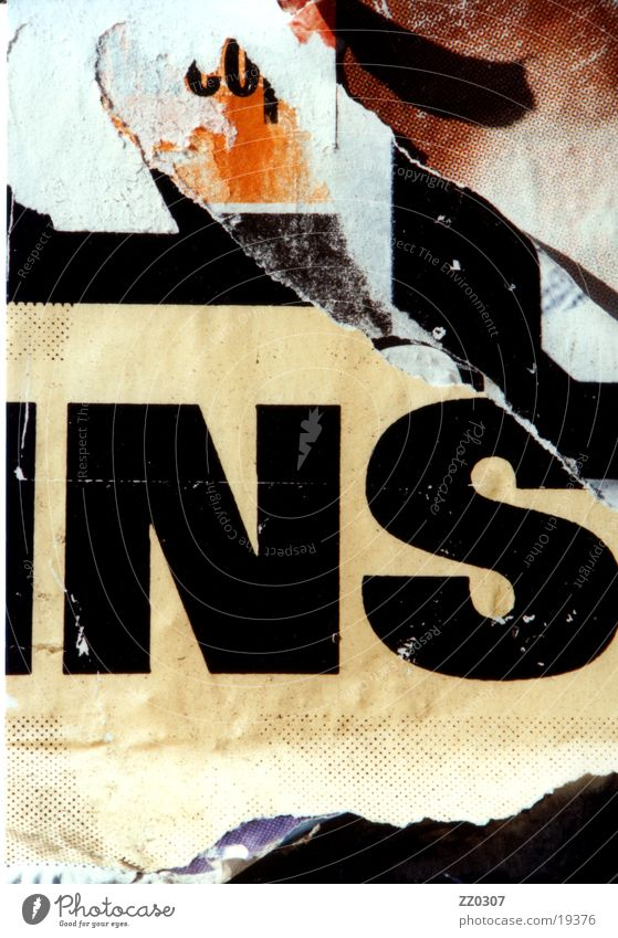 NATIONAL SOCIALIST Wall (building) Poster Billboard Typography Brown Beige Black Things broken typo Vernacular Type