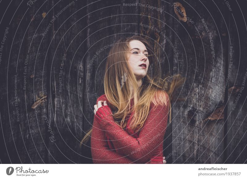 Human being Youth (Young adults) Young woman Calm 18 - 30 years Adults Cold Life Movement Feminine Dream Fear Blonde Observe Touch Curiosity