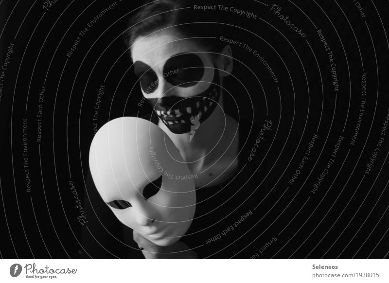 Human being Woman Dark Face Eyes Adults Sadness Feminine Head Fear Mouth Nose Teeth Lips Mask Carnival