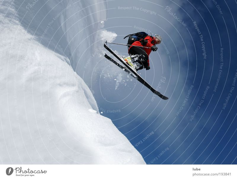 Nature Vacation & Travel Winter Sports Snow Mountain Jump Tourism Skiing Fitness Skis Athletic Beautiful weather Sports Training Glacier Winter sports