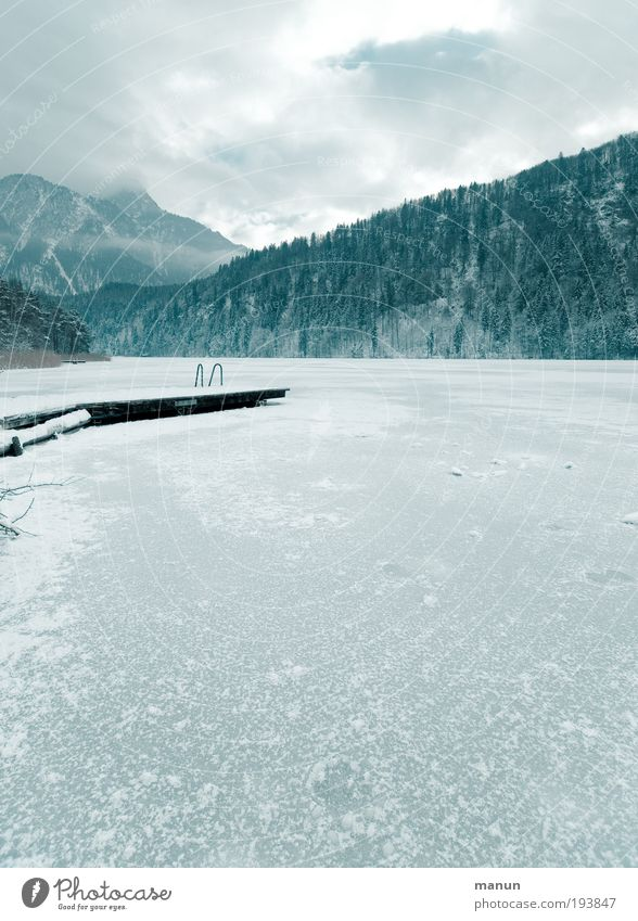 Nature Water Winter Vacation & Travel Calm Loneliness Forest Cold Snow Relaxation Mountain Lake Landscape Ice Rock Trip