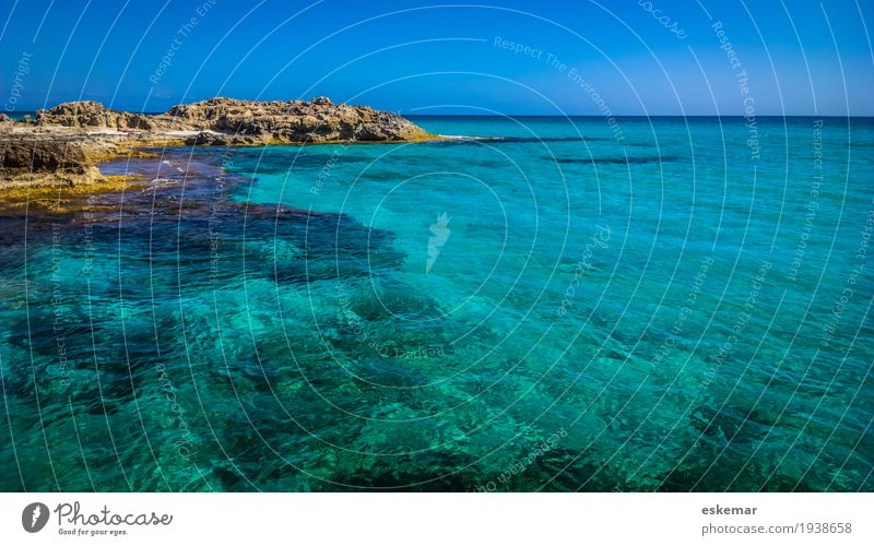 Sky Nature Vacation & Travel Blue Summer Beautiful Water Sun Landscape Ocean Calm Beach Coast Tourism Rock Horizon