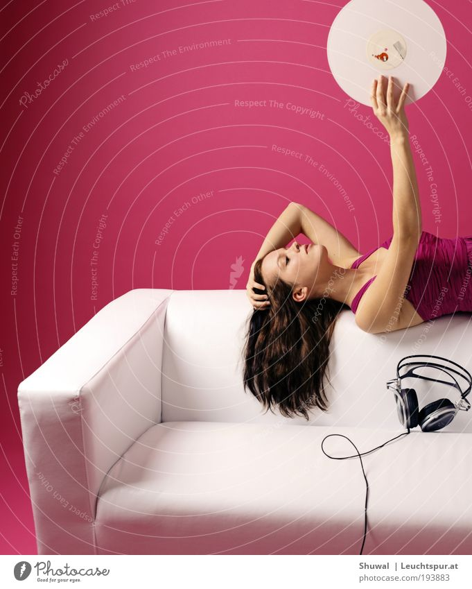 Human being Youth (Young adults) White Beautiful Adults Feminine Party Style Dream Music Dance Pink Elegant Design Lie Living or residing