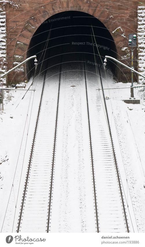 O Ice Frost Snow Tunnel Traffic infrastructure Public transit Train travel Lanes & trails Rail transport Railroad Railroad tracks Brave Fear Fear of the future