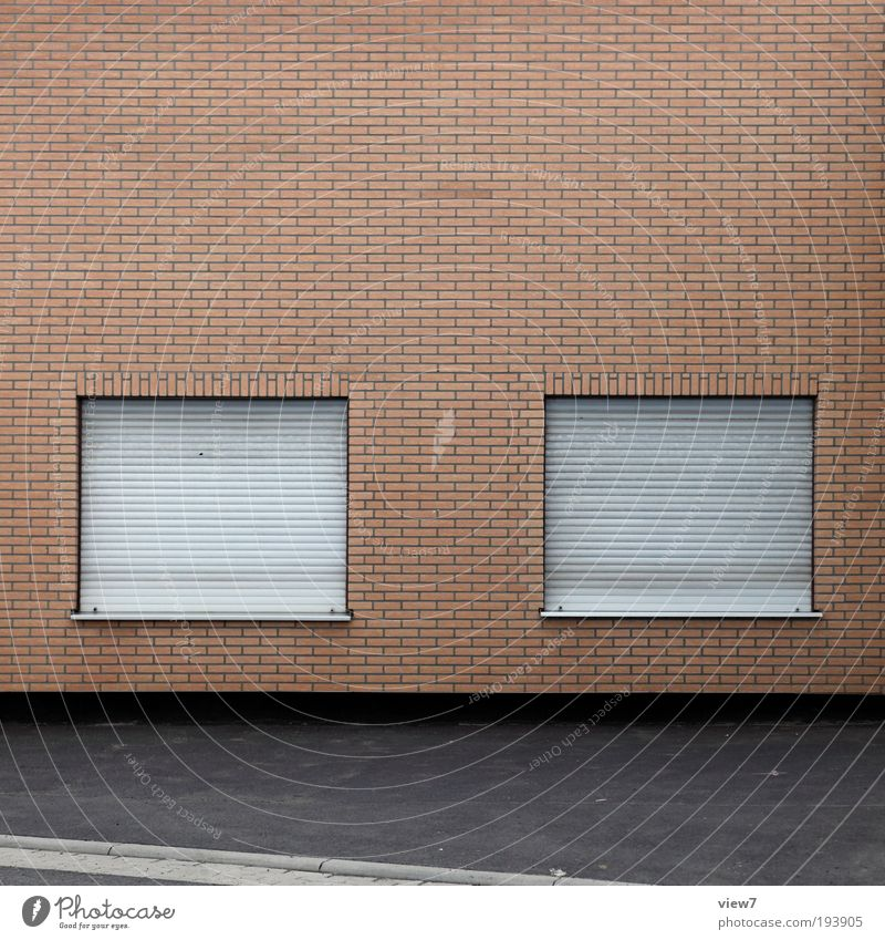 House (Residential Structure) Far-off places Street Cold Wall (building) Window Stone Wall (barrier) Line Metal Concrete Facade Modern Arrangement Gloomy