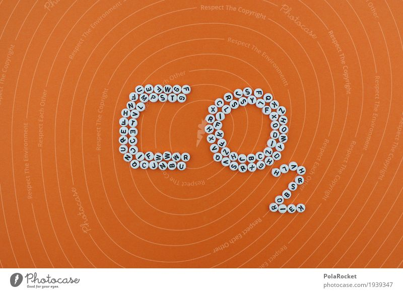 Art Orange Design 2 Esthetic Creativity Climate Letters (alphabet) Sustainability Work of art Climate change Mosaic Carbon dioxide Climate protection