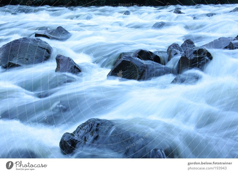 wild waters Environment Nature Landscape Plant Water Winter Climate change Weather Storm Glacier River bank Brook Waterfall Deserted Boating trip Stone Movement