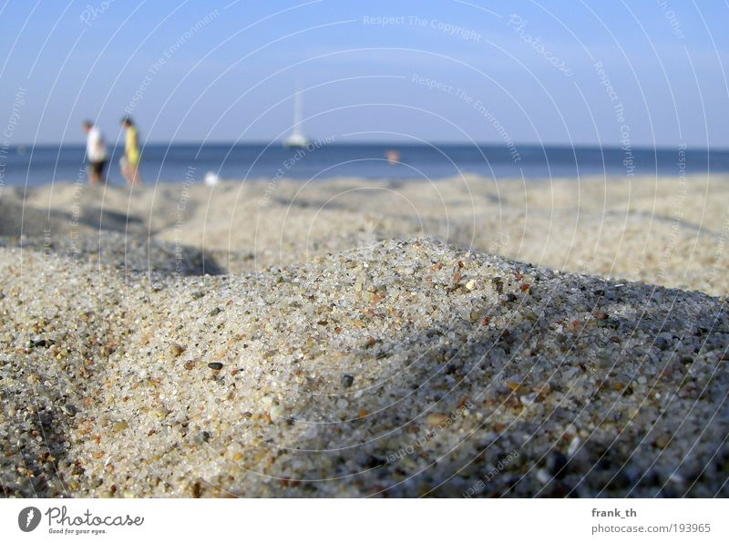 1001 Grain of sand Well-being Relaxation Leisure and hobbies Vacation & Travel Summer Summer vacation Beach Ocean Human being Sand Water Sky Sunlight