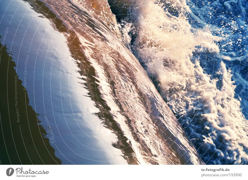 White water I Elements Water Waves Waterfall Surf White crest Rapid Effluent Wild Blue Brown Life Movement Environmental pollution Environmental protection