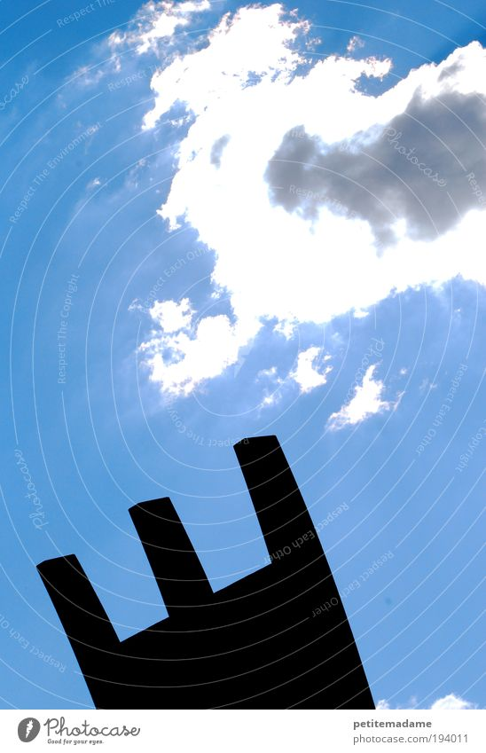 canopy Manmade structures Bright Clouds Sky Air Fresh White Architecture Silhouette 3 Sun Lighting Section of image Abstract Colour photo Exterior shot Day