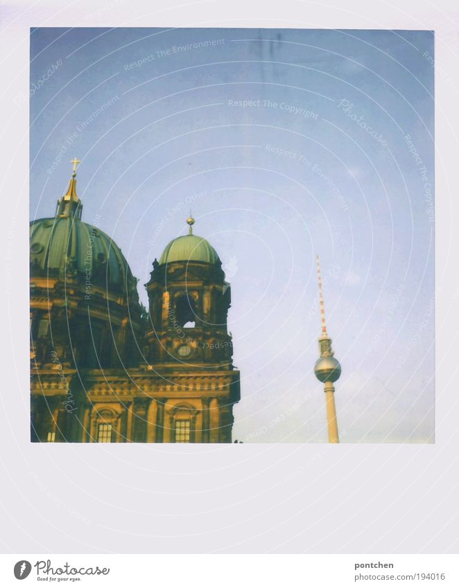 television tower and cathedral in berlin Vacation & Travel Tourism Trip Sightseeing City trip Technology Culture Television Berlin Capital city Downtown Dome