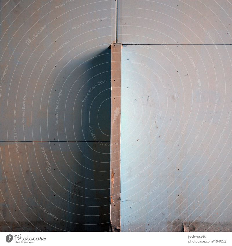 Calm Cold Background picture Line Gloomy Design Corner Simple Construction site Plastic Firm Sharp-edged Geometry Surface Section of image Vertical