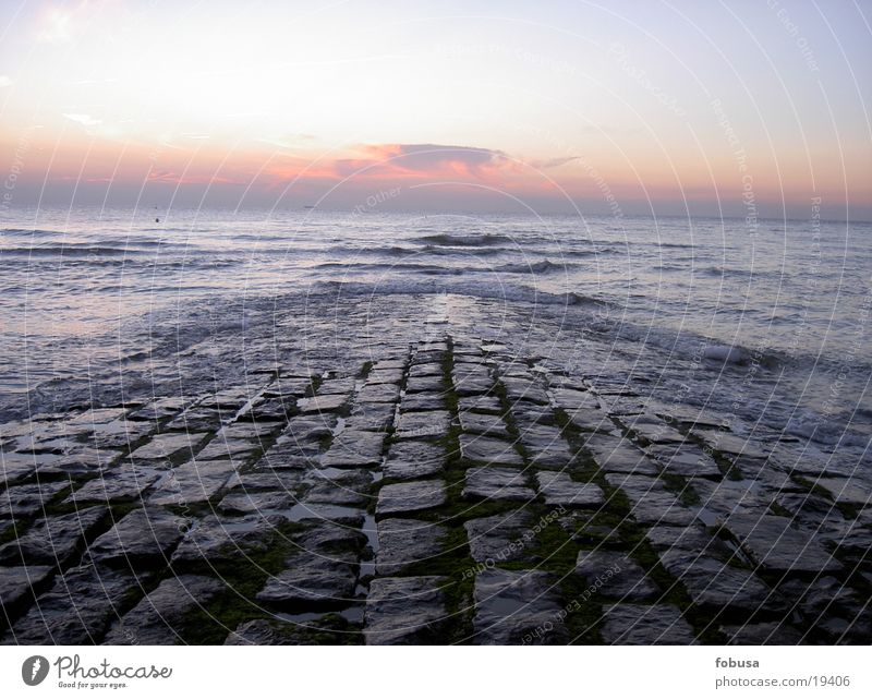 North Sea shore Ocean Sunset Lake Stone Water Sky Blue