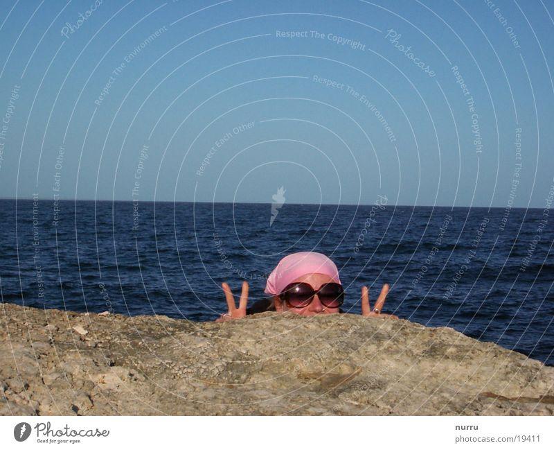 Woman Water Sun Ocean Summer Joy Freedom Pink Italy Sunglasses Rose glasses