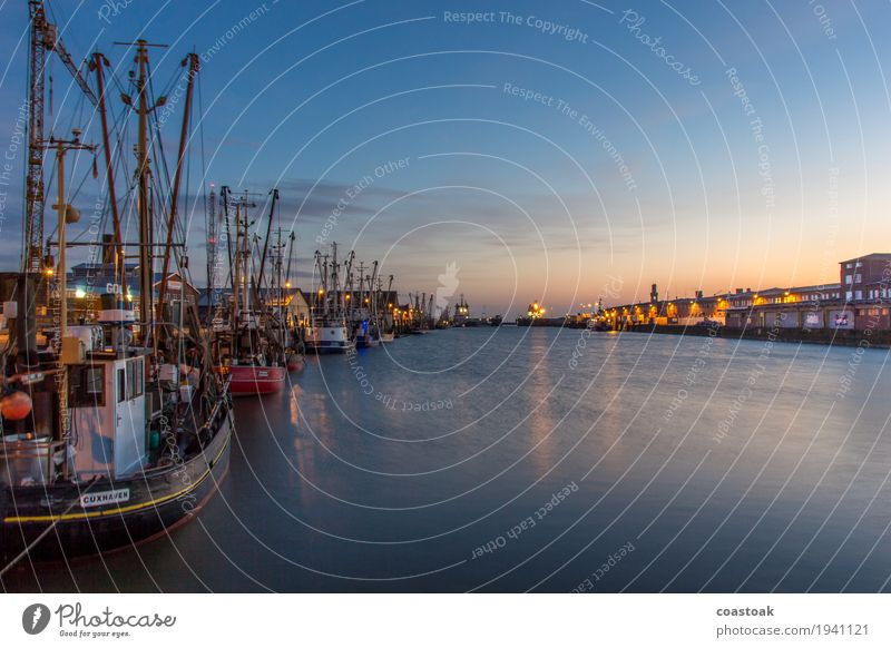 Cuxhaven shrimp cutter in the harbour Fisherman Fishery Water Coast Ocean Navigation Fishing boat Crab cutter Shrimp Work and employment Catch Lie Fresh