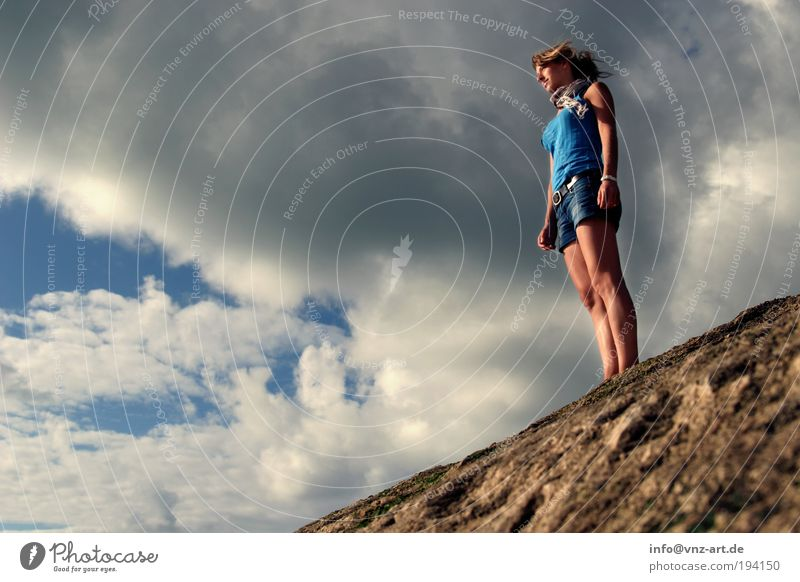 on the rocks Lifestyle Happy Beautiful Vacation & Travel Adventure Far-off places Freedom Summer Summer vacation Beach Ocean Waves Human being Feminine