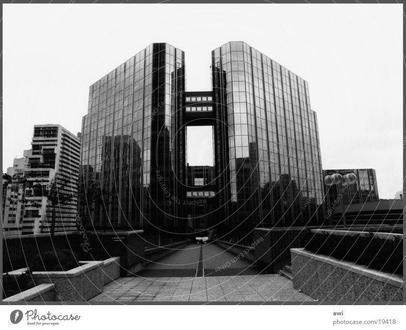 Cold Architecture Glass High-rise Paris Steel House (Residential Structure) Symmetry Chrome Office building