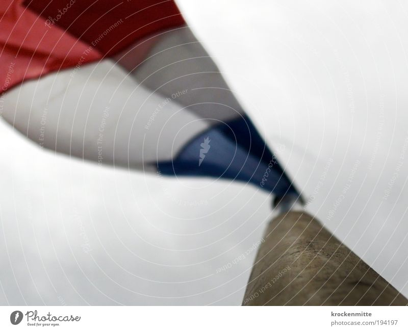 fluttering France Europe Flagpole Wood Patriotism Red White Blue Tricolor 14 juillet Ensign National Day Judder Blow Clouds in the sky French Revolution Wind