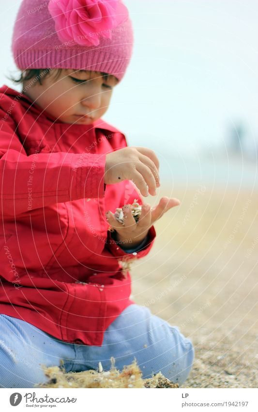 child playing with sand Human being Child Girl Adults Life Lifestyle Family & Relations Playing School Leisure and hobbies Infancy Baby Study Education Well-being Parents