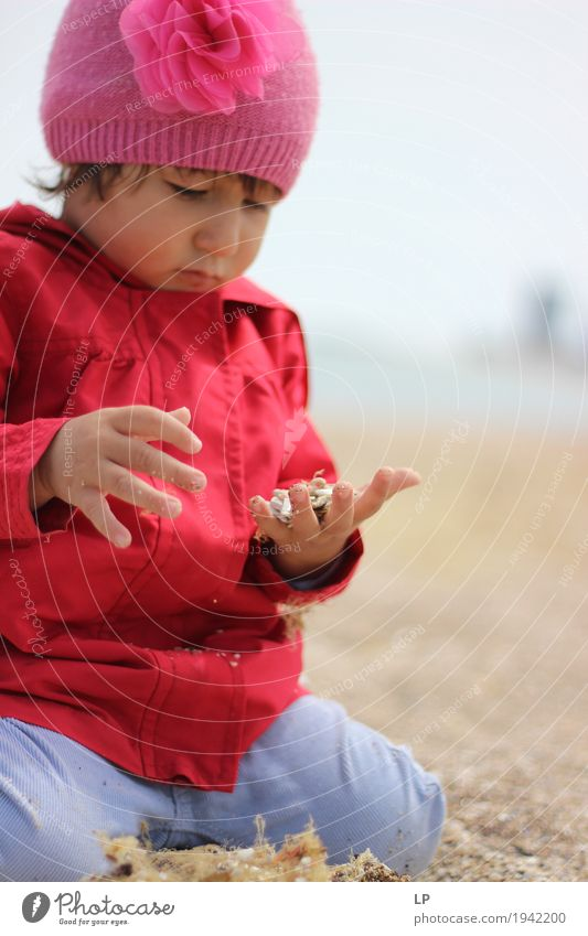 small child observing sand Human being Child Vacation & Travel Adults Life Senior citizen Family & Relations Playing Think Leisure and hobbies Infancy Baby Study Observe Touch Discover