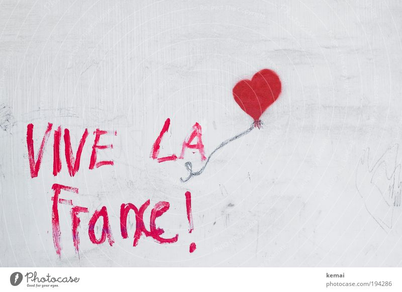 Long live France [heart] House (Residential Structure) Wall (barrier) Wall (building) Facade saying Figure of speech Graffiti Mural painting Art Draw Happiness