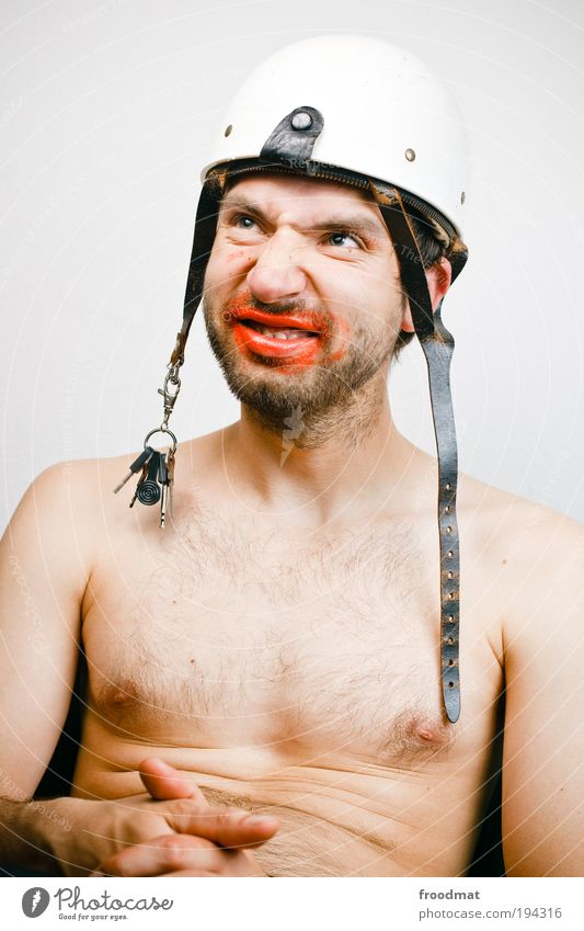 Human being Man Adults Naked Dream Funny Dirty Sit Nose Masculine Crazy Exceptional Protection Whimsical Trashy Surprise