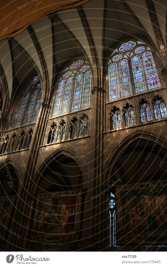Window Religion and faith Mysterious Mosaic House of worship Shaft of light Strasbourg