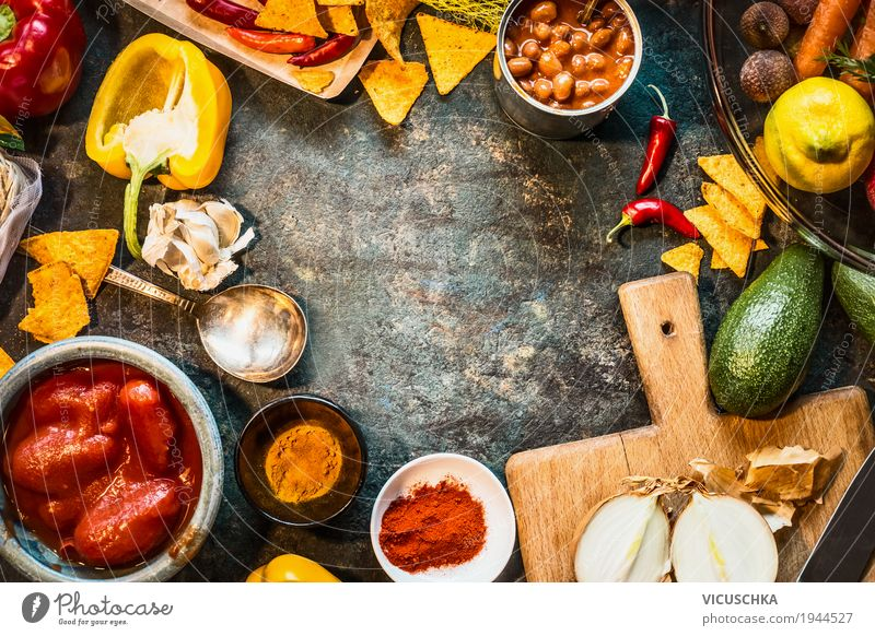 Vegetarian ingredients for Mexican cuisine Food Vegetable Lettuce Salad Herbs and spices Cooking oil Nutrition Dinner Organic produce Vegetarian diet Diet