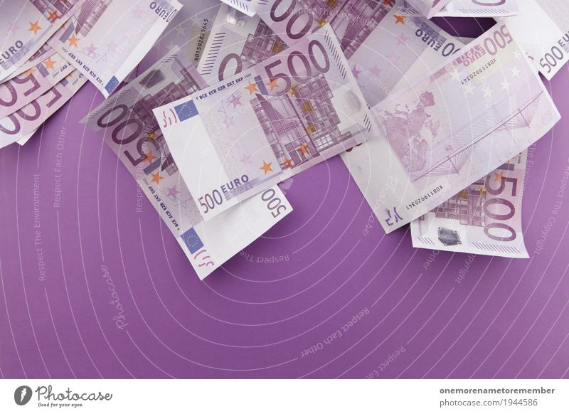 shower of money Decoration Collection Trade 500 Euro Euro symbol Euro bill Financial Industry Capitalism Money Capital investment Rich Luxury Might
