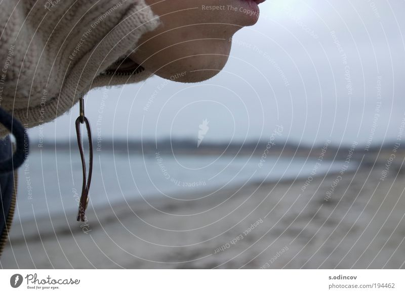 The Chin Man Nature Water Face Adults Autumn Landscape Freedom Horizon Mouth Baltic Sea Freeze Sweater Flexible Ocean Storm clouds