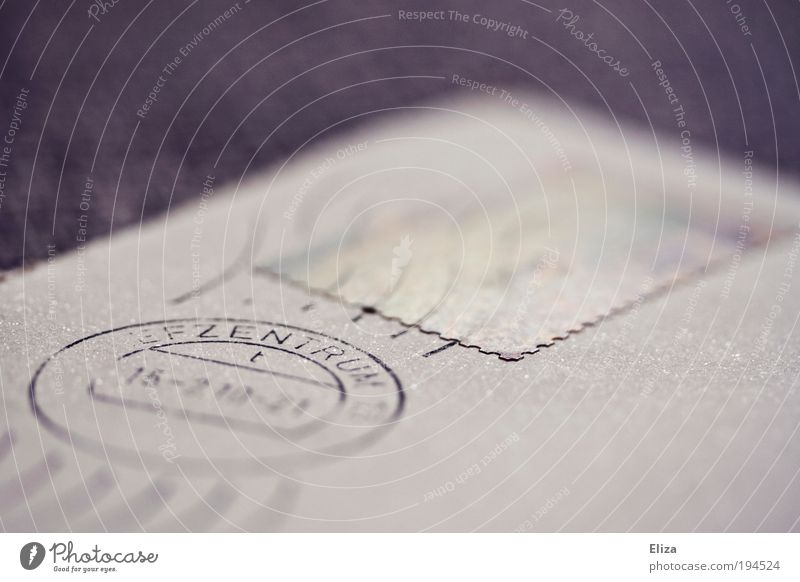 Gray Paper Esthetic Telecommunications Violet Write Letter (Mail) Stationery Stamp Envelope (Mail) Transmit