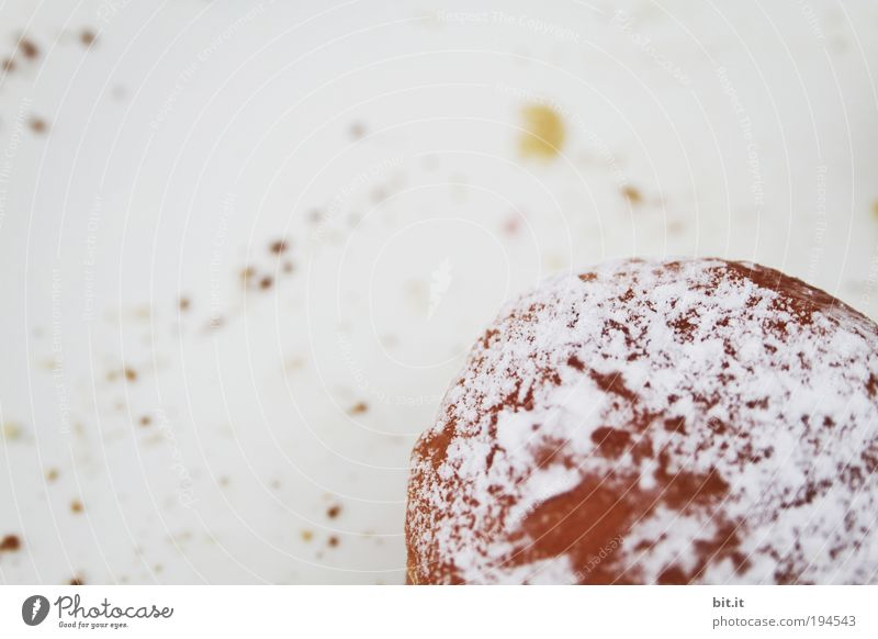 Nutrition Food Candy Fat Baked goods Dessert Dough Donut Calorie Coffee break Detail Perspective Copy Space left Bird's-eye view To have a coffee Pancake