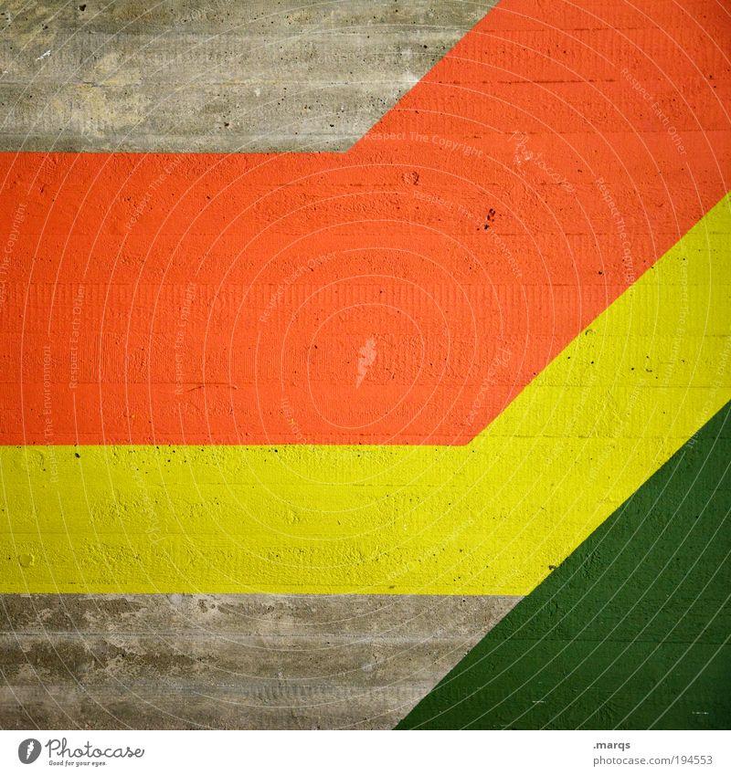 Green Red Yellow Colour Style Line Background picture Design Elegant Success Concrete Growth Retro Simple Decoration Stripe