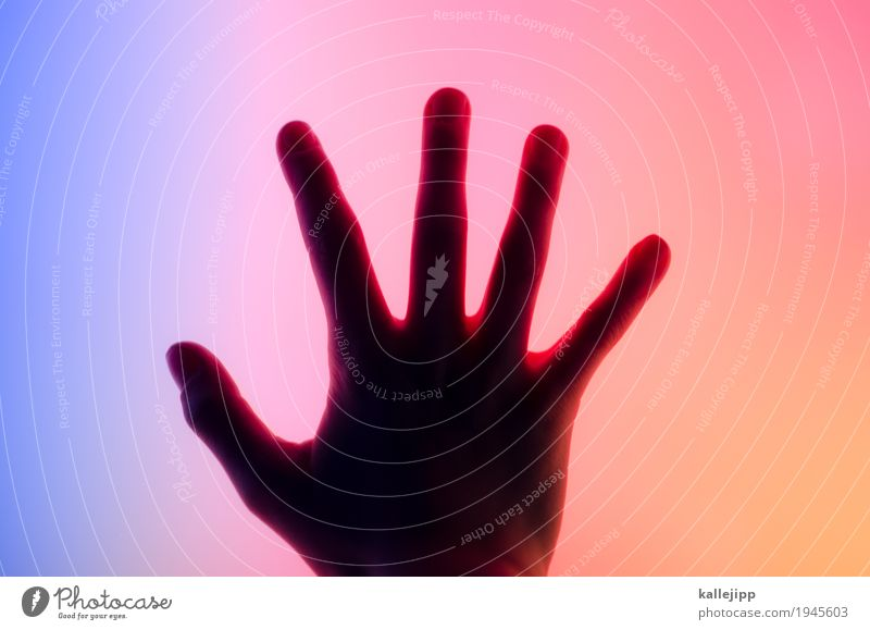 Child Blue Hand Warmth Cold Orange Energy industry Technology Telecommunications Computer Future Fingers Touch Internet Cellphone Information Technology
