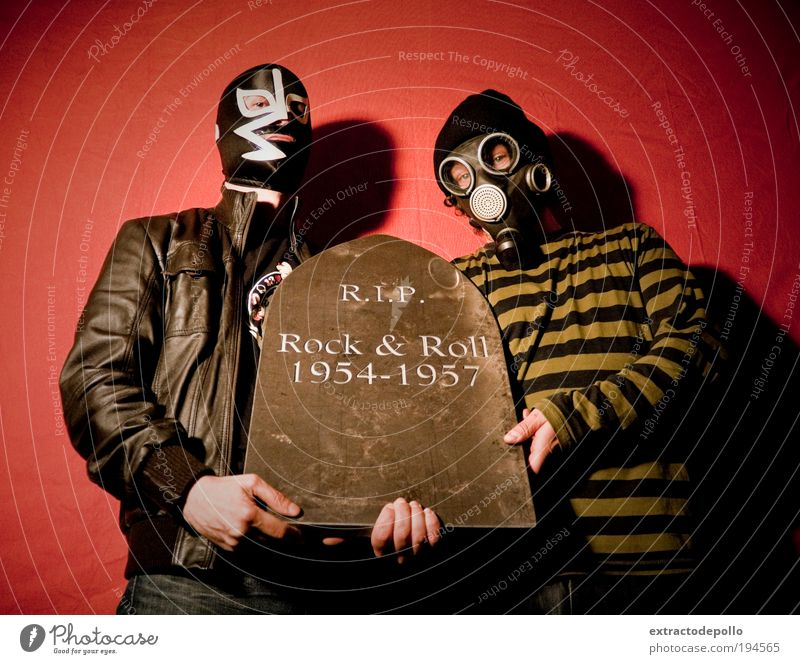 Human being Animal Adults Music Stone Exceptional Dirty Masculine Retro Mask Rock music Creepy Rock'n'Roll Luxury Addiction Punk