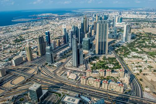 Abu Dhabi House (Residential Structure) Street Lanes & trails Building Business Transport Car Growth High-rise Airplane Bridge Asia Bank building