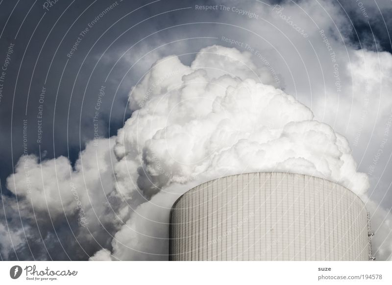 Clouds Think Dirty Weather Environment Industry Energy industry Future Industrial Photography Factory Change Climate Smoke Exhaust gas Economy Breathe