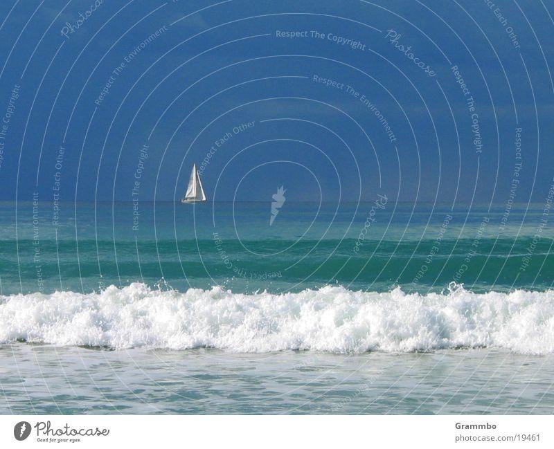 Water Sky White Ocean Blue Clouds Watercraft Waves Europe Sail