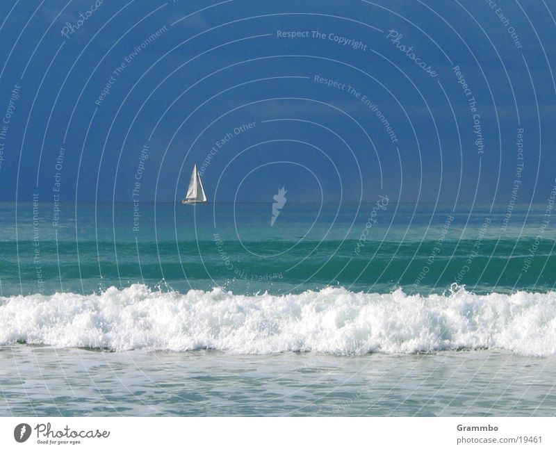 Water Sky White Ocean Blue Clouds Watercraft Waves Europe Sail