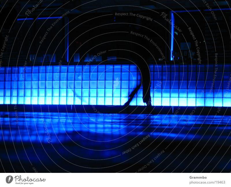 Blue Legs Tile Corridor Photographic technology