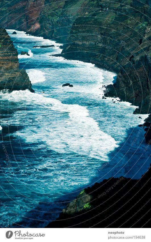 foam bath Nature Landscape Earth Water Climate change Beautiful weather Volcano Waves Coast Bay Ocean Atlantic Ocean Island La Palma Cliff Blue Green Red Foam