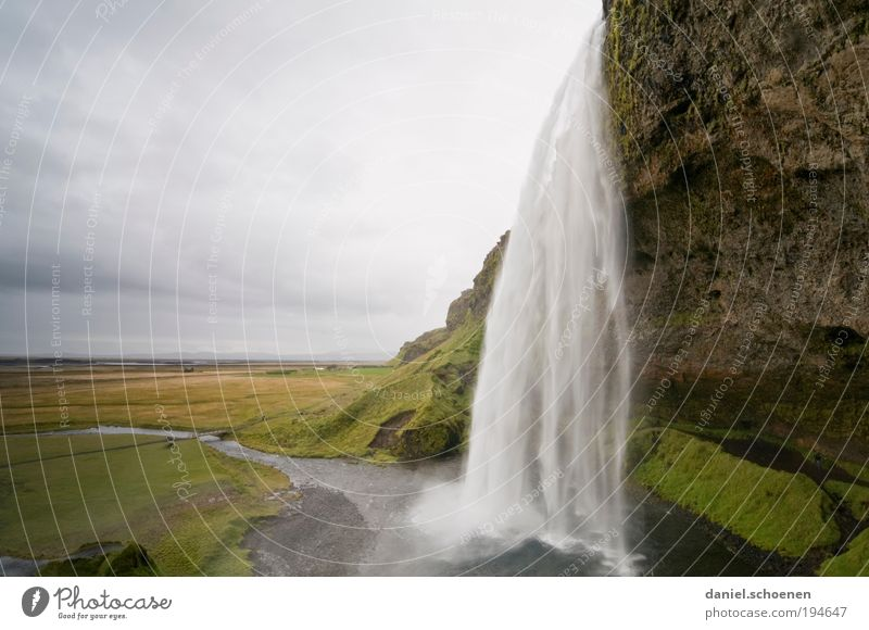 Nature Vacation & Travel Loneliness Far-off places Freedom Landscape Environment Movement Horizon Tourism Uniqueness Iceland Waterfall Sightseeing Water Scandinavia