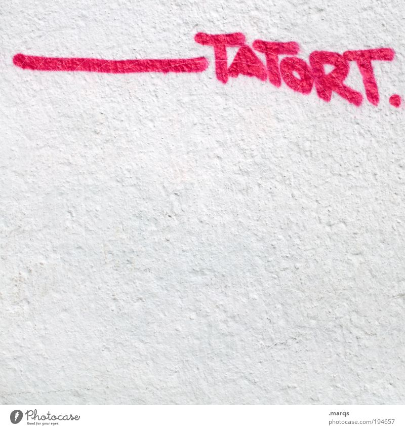 White Wall (building) Graffiti Wall (barrier) Pink Facade Characters Threat Force Media Typography Aggression Television Horror Criminality Theft