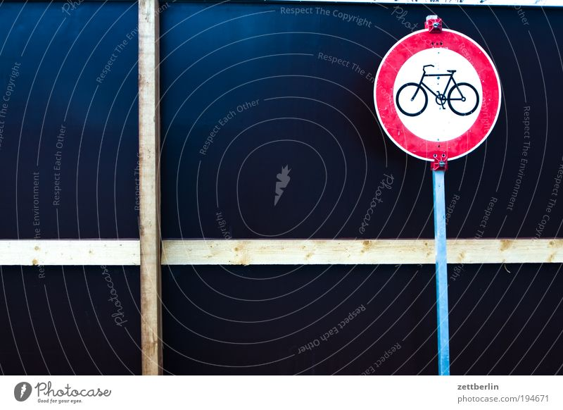 Bicycle forbidden Signs and labeling Road sign Transport Bans Rule Traffic regulation Information Communicate Cycle path Wall (building)