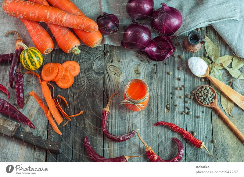 fresh vegetables and a glass of carrot juice Nature Old Healthy Eating Red Natural Wood Health care Gray Above Orange Fruit Nutrition Fresh Glass Table Rope
