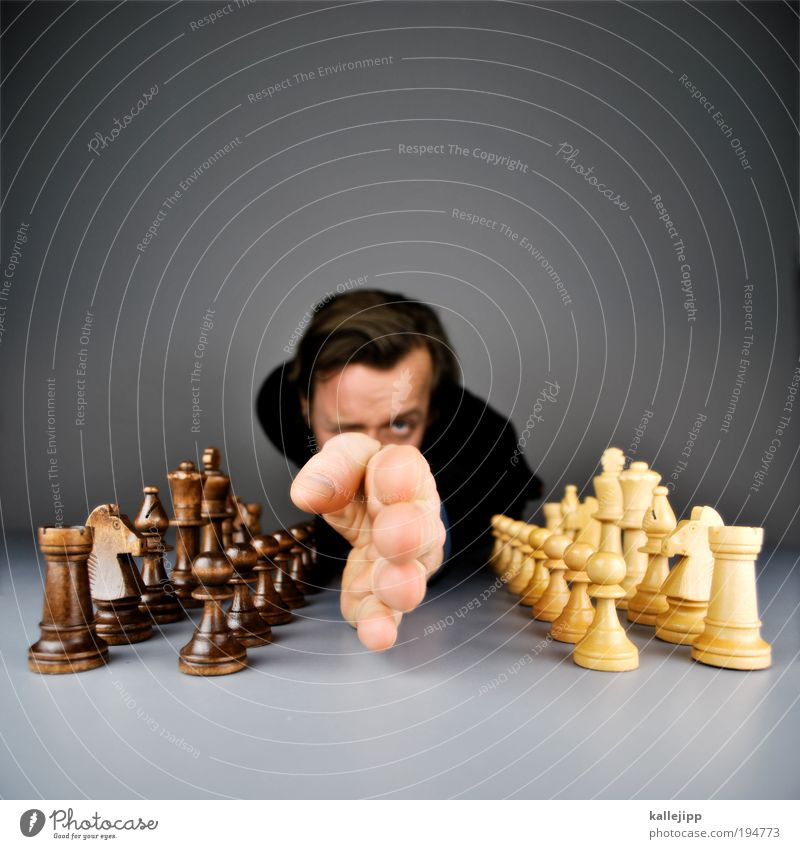 border demarcation Lifestyle Playing Chess Sporting event Human being Man Adults Head Hair and hairstyles Face Eyes Arm Hand Fingers 1 Fight Relationship