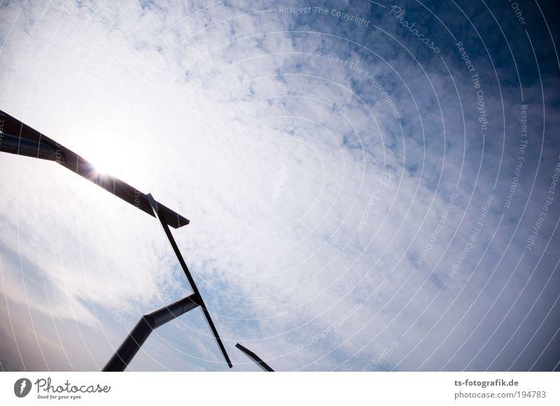 Sky Blue White Sun Clouds Black Movement Metal Art Contentment Climate Exceptional Illuminate Communicate Long Monument