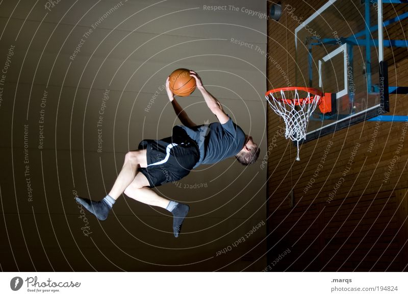 kamikaze Lifestyle Elegant Style Joy Leisure and hobbies Sports Fitness Sports Training Sportsperson Basketball Sporting Complex Human being Masculine Young man