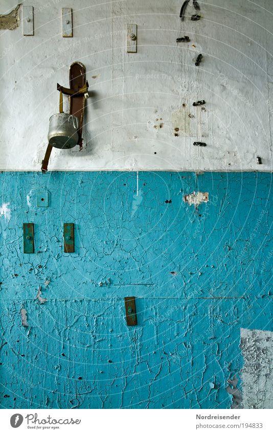 Blue Wall (building) Architecture Wall (barrier) Building Work and employment Interior design Arrangement Poverty Design Decoration Broken Lifestyle