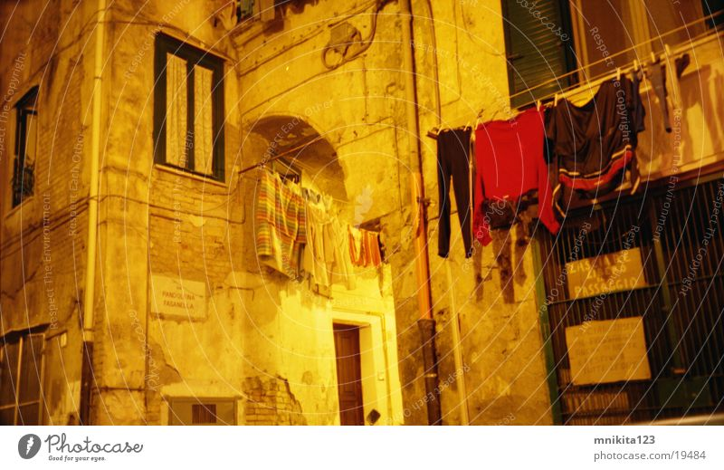Absolutely Italy Laundry Window Wall (building) Night Europe
